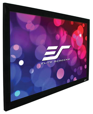 "Elite Screens EzFrame R120WH1-A1080P3 - 120"", 16:9, Acoustically Transparent, Fixed Frame Projector Screen"