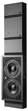 """JBL Synthesis, SSW-3, 500W Dual 10"""" In-Wall Passive Subwoofer"""